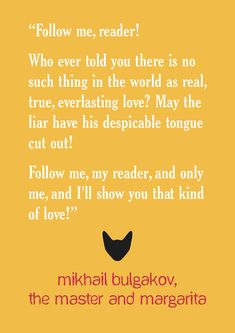 """""""Follow me, reader! Who ever told you there is no such thing is the world as…"""