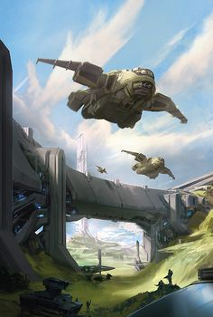 Halo Escalation 6 Dark Horse Comic book cover X-box 360 one Concept Ships, Concept Art, Game Concept, Star Wars, Microsoft, Halo Game, Halo 3, Inspiration Artistique, Sci Fi Ships