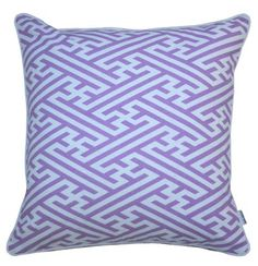 Mrs. Darcy Fretwork Pillow in Lilac