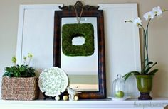 Decoration, Decorating Small Spaces Living Room Furniture Decorating Fireplace Mantel Spring Decorating: Exciting 32 Fresh Spring Mantels Decorations Ideas