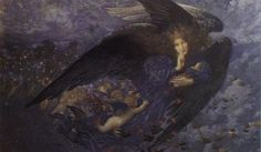 Night with her Train of Stars and her Great Gift of Sleep by Edward Robert Hughes