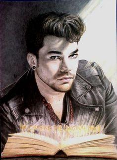 "Adam Lambert fanart ""Chasing The Original High"" by AllaFehu"