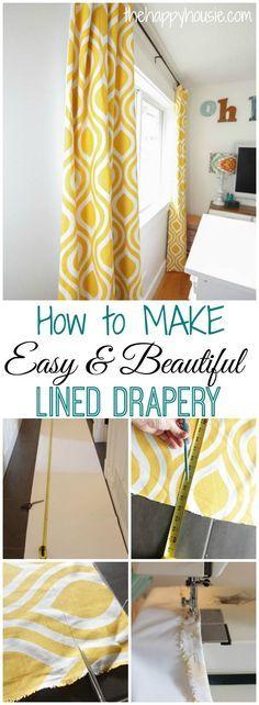 Easy DIY Lined Drapery Panels {ORC Week 5