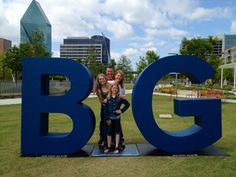 The McGee family at the Kylde Warren Park Dallas BIG location.