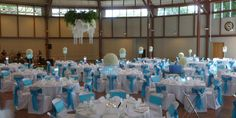 Pool blue and white reception