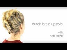 Dutch Braid Upstyle - YouTube