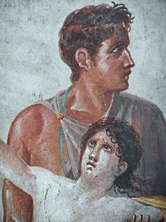 Iphigenia's sacrifice (Detail) - from Pompeii, House of Tragic Poet - Naples, Archaeological Museum