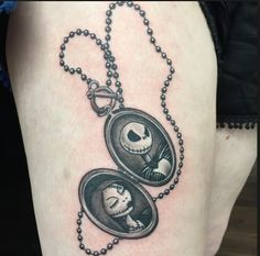 LOVE the idea of the locket w/ Jack and Sally