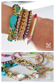 truebluemeandyou:    DIY Five Bracelets, Five Easy Tutorials. These bracelets are really simple to make. I know you've seen them on other posts, but the five tutorials are all together in one post with easy to follow instructions. Tutorials from A Matter of Style here.