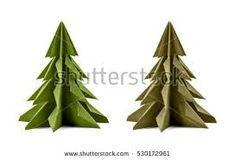 Image result for origami christmas tree decorations. Origami Christmas Tree, Christmas Tree Decorations, Image