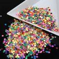 10g/pcs Fashion Iridescent Glitter Nail Art Decoration Rainbow Color Nail Glitter Beauty Circle Shape Dust Nail Salon Tools WY7
