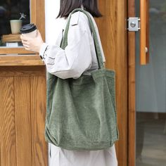 Spring Corduroy Bag Corduroy Tote Bag Autumn Tote Bag Purses And Bag Shoulder Bag Purse Market Bag School Bag Tote Bags With Pockets Tote Bags For School, Shoulder Bags For School, School Purse, Tote Bag With Pockets, Accesorios Casual, Girl Backpacks, Market Bag, Wash Bags, Cute Bags