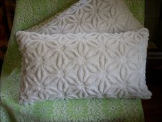 Cozy chenille pillows - Like the shape & pattern