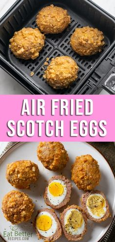 Air Fryer Recipes Low Carb, Air Fryer Dinner Recipes, Low Carb Recipes, Egg Dinner Recipes, Fried Egg Recipes, Air Fryer Recipes Breakfast, Scotch Eggs Recipe, Keto Egg Recipe, Eggs Low Carb