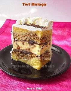 Malaga Cake ~ colors on your plate Romanian Desserts, Russian Desserts, Romanian Food, Italian Desserts, Best Cake Flavours, Cake Flavors, Sweets Recipes, Baking Recipes, Cake Recipes