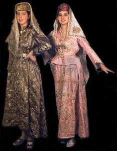 Late-Ottoman, end of century. Goldwork embroidery on silk. Folk Costume, Traditional Dresses, The Dress, Fashion Models, Street Style, How To Wear, Fashion Design, Clothes, Women