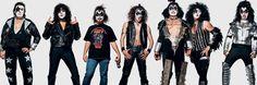 Fans de Kiss photographiés avant des concerts et assemblés sur panoramique