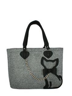 Сумка серая с аппликацией-кошечкой - Valex, акция действует до 22 февраля 2016 года | LeBoutique - Коллекция брендовых вещей от Valex Cat Purse, Cat Bag, Occasion Bags, Dog Tote Bag, Laptop Bag For Women, Fabric Bags, Small Crossbody Bag, Handmade Bags, Crafts
