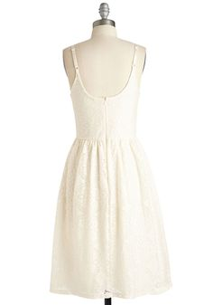 Seeing Eye to Eyelet Dress. All your fashionable friends agree - this ivory dress is the perfect match for your charming style! #cream #modcloth