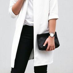 White + Black = chic in any season