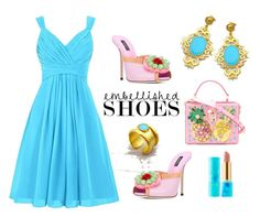 """""""Embellished Shoes - Evangelos Jewellery"""" by evanangel on Polyvore featuring Dolce&Gabbana, tarte and vintage"""