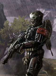 Halo Game, Halo 5, Armor Concept, Concept Art, Halo Reach Emile, Halo Armor, Halo Reach Armor, Odst Halo, Halo Master Chief