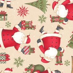 santa quilting fabric | Santa's Gifts Quilt Fabric from Wilmington / South Seas