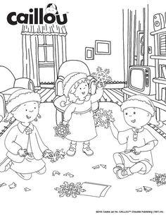 Caillou Holiday Fun – Christmas Crafts Coloring Sheet!
