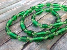 Kette 'Glas-Grün' von TiefseeKirsche auf DaWanda.com