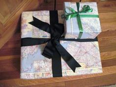 map as wrapping paper
