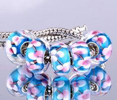 5PCS silver DIY thread Murano Glass Beads Charms fit Europe pandora Bracelets necklaces /extanpaa flfaocma F289  http://playertronics.com/product/5pcs-silver-diy-thread-murano-glass-beads-charms-fit-europe-pandora-bracelets-necklaces-extanpaa-flfaocma-f289/