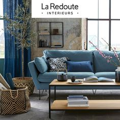 A theme inspired by craftsmanship which highlights raw materials, patinated finishes and used effects. Feng Shui, Indigo, Les Themes, Luminaire Design, Decoration, Love Seat, Couch, Bikini Triangle, Inspiration