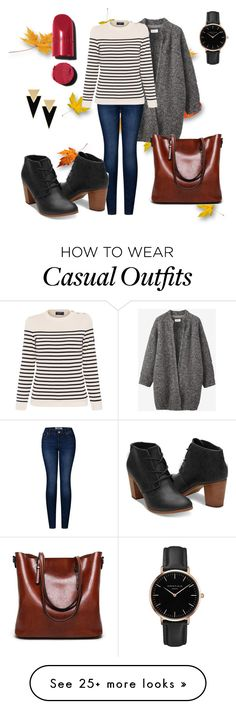 """Autumnal casual"" by manoumi on Polyvore featuring Toast, 2LUV, Saint James, Chanel, Topshop and Yves Saint Laurent"