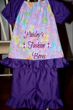 Butterfly short set #paisleysfashionbows