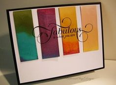 "BLENDABILITIES RAINBOW.... ""Fabulous"" card by Butternut Sage Designs"