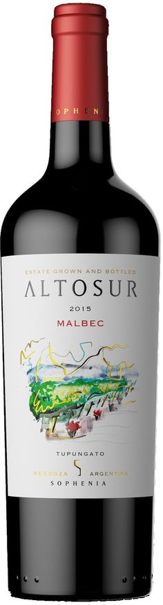 """Altosur"" Malbec 2016 - Bodega Finca Sophenia, Tupungato, Mendoza----------------Terroir: Gualtallary (Tupungato)--------------Crianza:  3- 4 meses en barricas de roble francés y americano"