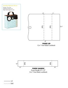 Template for Paper purse/bag