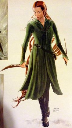 Tauriel concept art. I plan on doing a Mirkwood elf costume for a Ren Faire coming up
