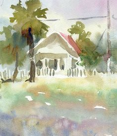watercolor cottage