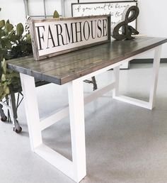 Farmhouse Decor | Farmhouse Design | Rustic Furniture | DIY Desk | Ana White | Modern Farmhouse | Joanna Gaines | Fixer Upper | Office Decor Ideas | Farmhouse Decor Ideas | Farmhouse Sign | Wood Sign