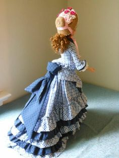 Ellowyne Wilde Outfit A Victorian Visiting Ensemble with Wig and Shoes (back view) | by pollyswardrobe4dolls