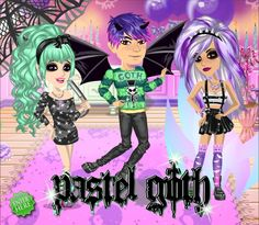 Pastel goth theme on #moviestarplanet #MSP www.moviestarplanet.com