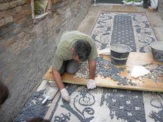 Luciano Bonzini mosaics | Risseu, the cobblestone mosaic pavement, can be found throughout Liguria, Italy