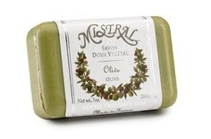 Mistral Soap, Olive, 200 Grams by Mistral. $8.00. Contains organic shea butter and the highest quality oils of olive palm or coconut. 100% pure vegetable soap. Mistral shea butter soap is recommended for everyone even those with sensitive skin. Does not leave a residue and skin feels soft and silky. Finished product not tested on animals. Hand-crafted in the heart of provence France Mistral soaps are made according to a three-hundred year old tradition of puri...