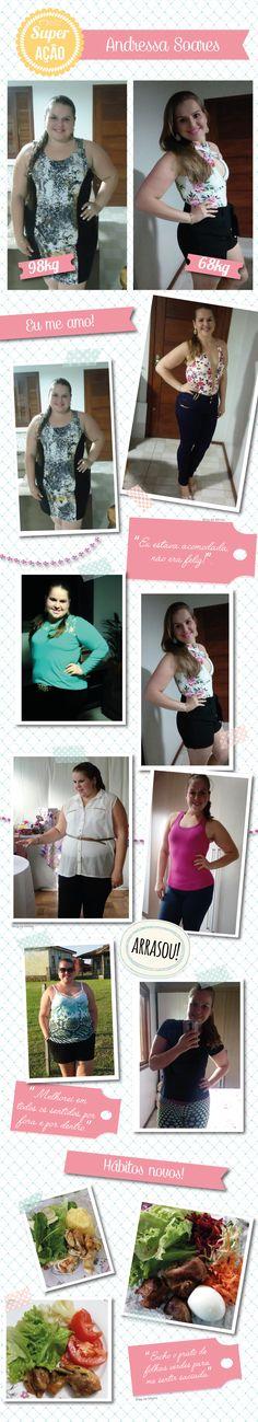 Superação Andressa Soares: dieta simples e menos 30Kg! - Blog da Mimis #blogdamimis #emagrecer #superação #dieta