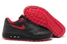cheap for discount 3c8a4 30b55 Nike Air Max 1 Hyperfuse Premium Men s Shoe Black Sport Red For Sale