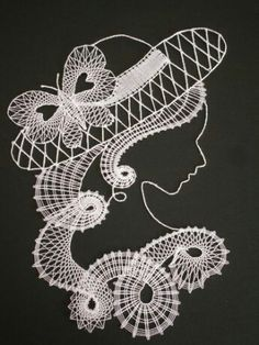 Bobbin Lace Patterns, Crochet Doily Patterns, Machine Embroidery Patterns, Embroidery Fonts, Crochet Doilies, Doily Art, Lacemaking, Point Lace, String Art