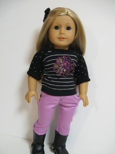 American Girl Doll ....love the black stitching on the jeans ... cute