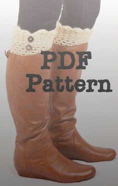 PDF Crochet PATTERN Boot Cuffs, Boot Toppers, Shoe Accessories, Boot Warmers, Women, Gifts for Her, Winter, Toddler, Girl, Child. $5.00, via Etsy.