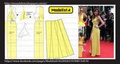 Vestido longo, confeccionado em crepe amarelo, que abusa da sensualidade ao combinar o generoso decote, com recortes abaixo dos seios e u...